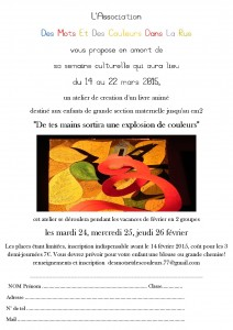 flyer atelier livre 2